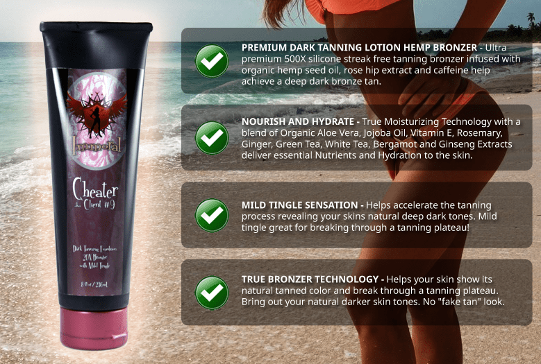 Immoral Cheater Tanning Lotion