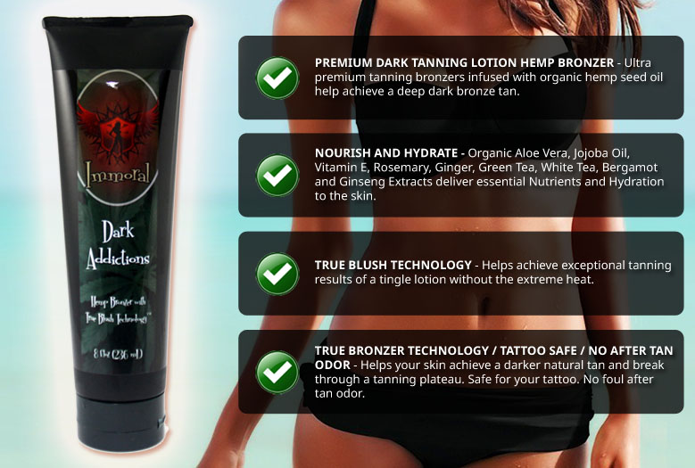 Immoral Dark Addictions Premium Tanning Lotion