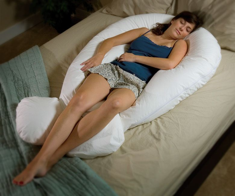 Total body cocoon pillow