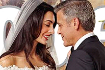 Wedding day bliss between Amal and George Clooney