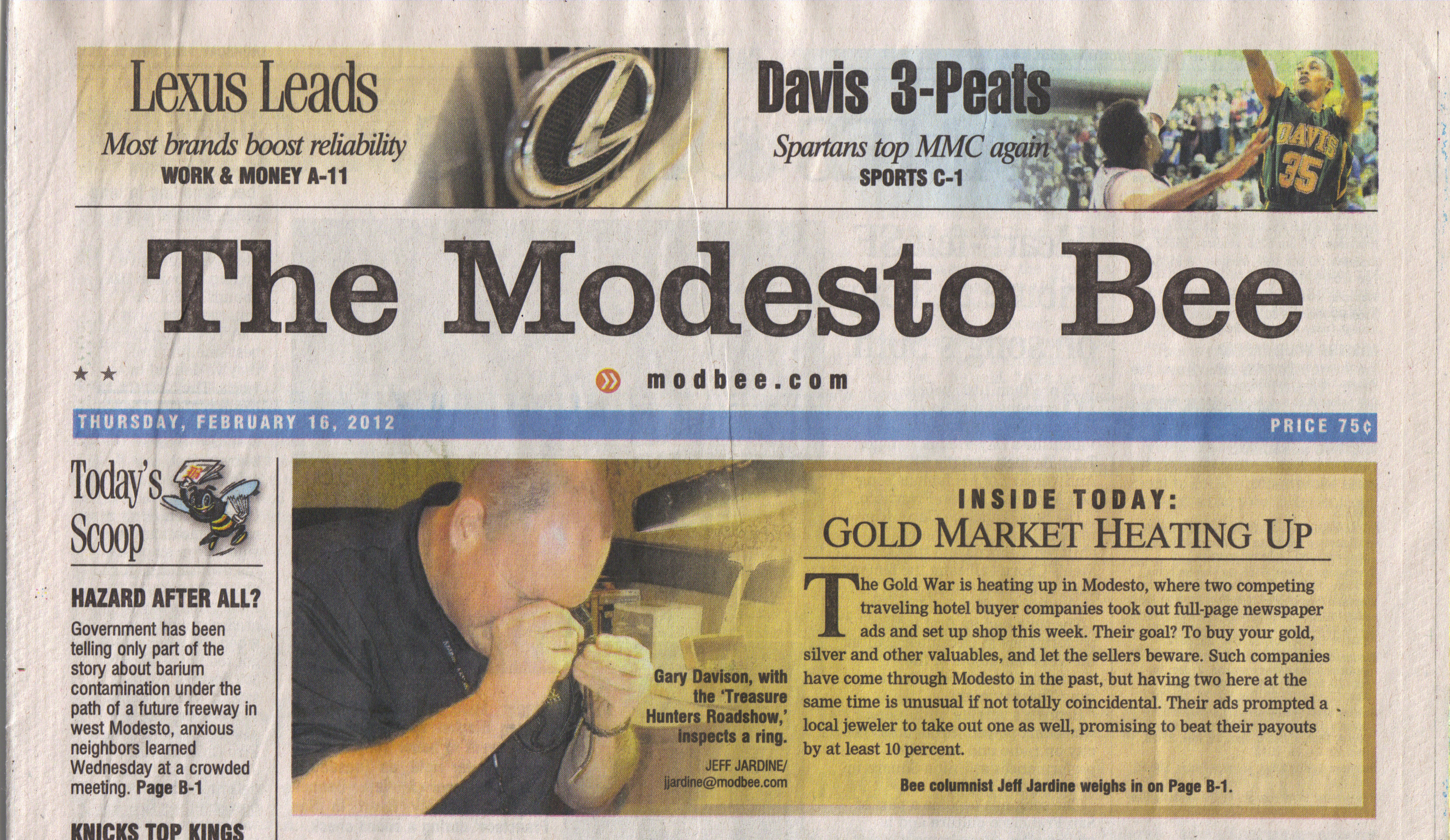 Modesto Bee Article 1
