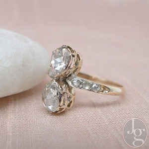 Antique pear diamond ring