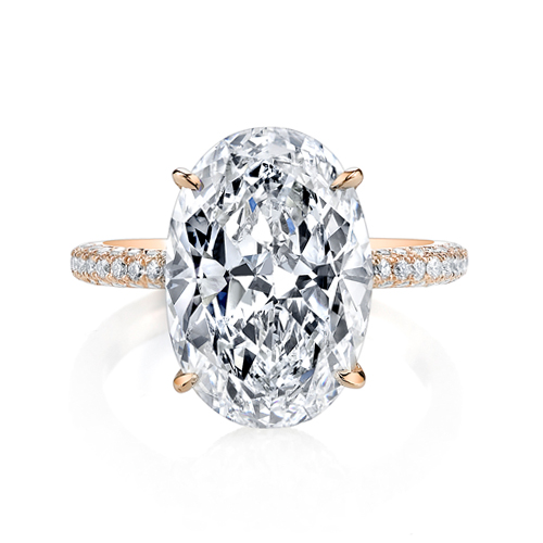 Beautiful Oval Cut Diamond Ring from Jean Dousset