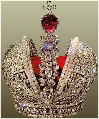Russian Imperial Crown with Huge Spinel