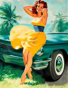 Retro pin up beauty