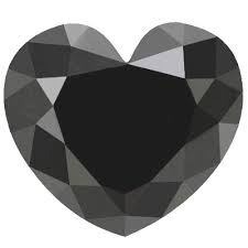 Heart shape black diamond