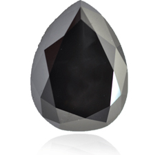 Pear shape black diamond