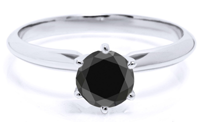 Gorgeous Black Diamond Solitaire