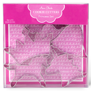 Ann Clark Cookie Cutters - Fairytale Princess Boxed Set of 5 Cookie Cutters