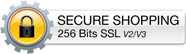 This shopping cart employs the highest industry strength security: 256 bit SSL