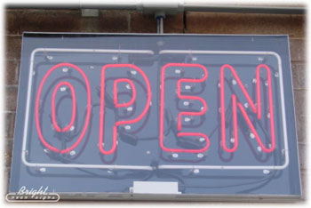 Outdoor Extra Large Square Neon Open Sign