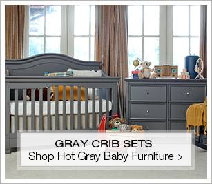 Hot Gray Cribs And Nursery Sets