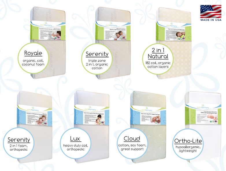 Pure Harmony Crib Mattresses Changing Pads Protectors