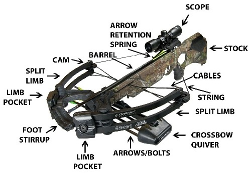 crossbow diagram  crossbow parts