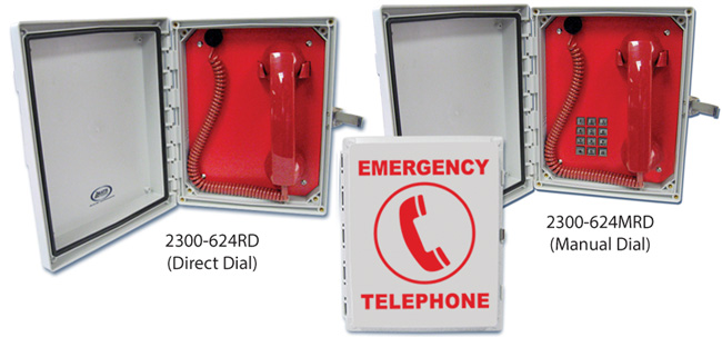 Enclosed Courtesy Phones: Direct Dial or Manual Dial