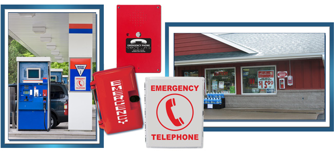 Convenience Store Direct Dial Emergency Phones