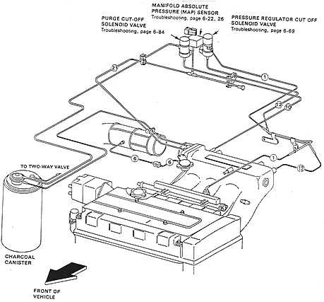 88-91 Civic / CRX B16A Vacuum Diagram (without dashpot valve)