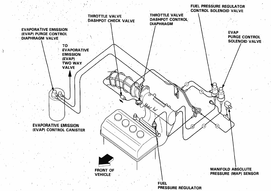 92-93 Integra B17A1 Vacuum Diagram