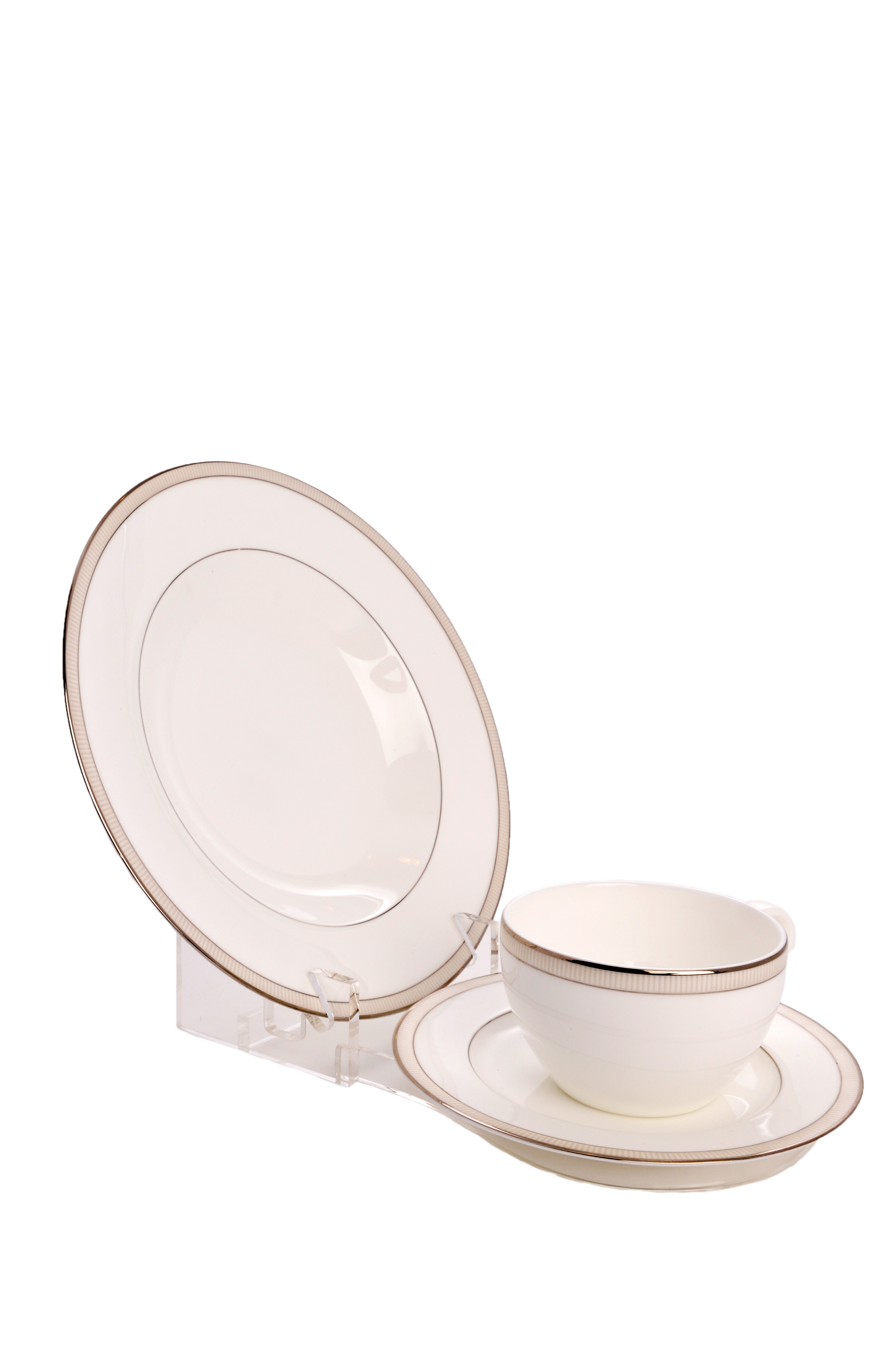 Clear Acrylic 3 Piece Dinnerware / China / Place Setting Display Stand (Item #693)  sc 1 st  THB Products LLC & Clear Acrylic 3 Piece Dinnerware / China / Place Setting Display ...