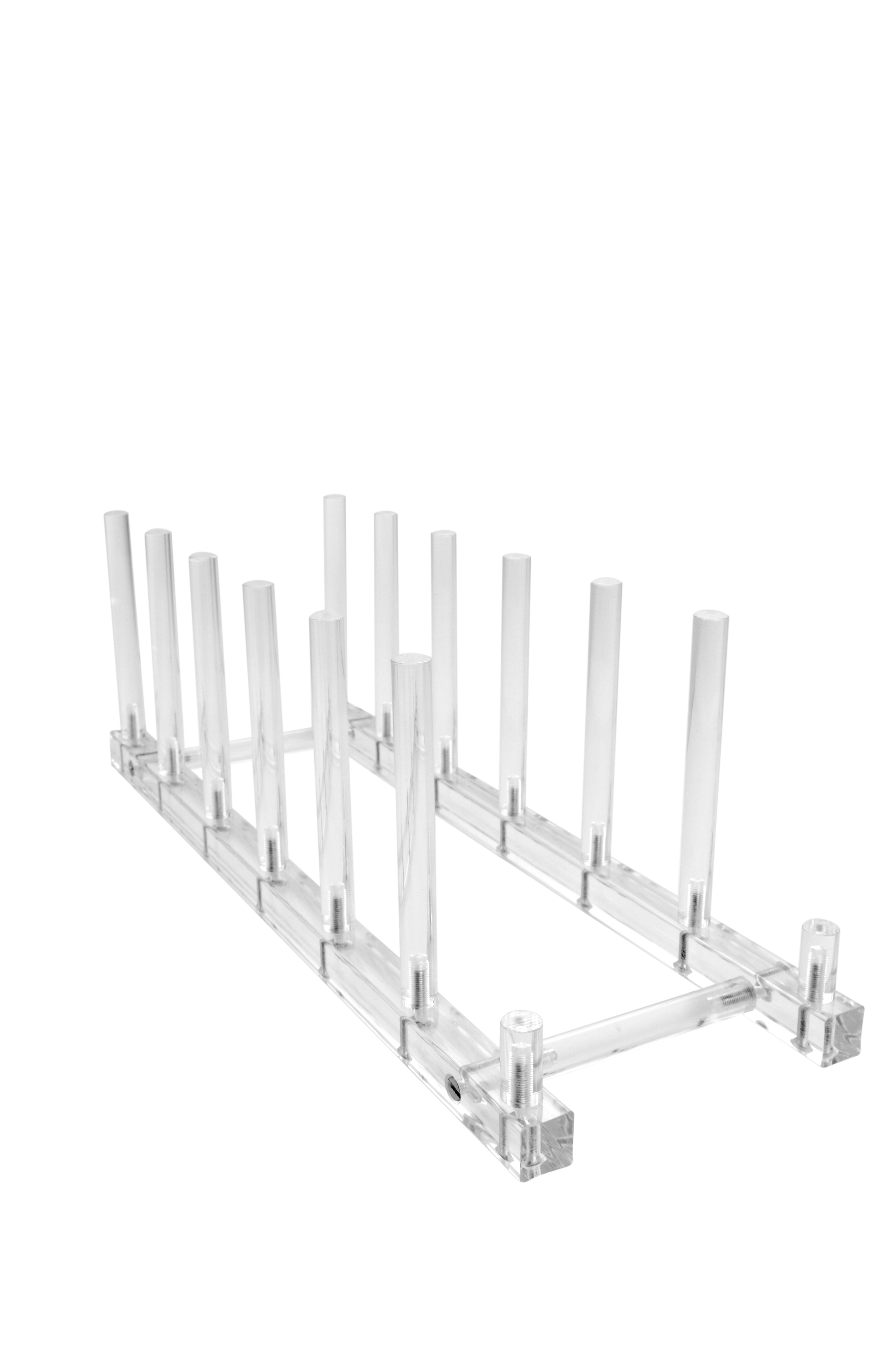 $44.40 each  sc 1 st  THB Products LLC & Large Clear Acrylic 6 Plate Platter or Tray Multi Display Standu003cbr ...