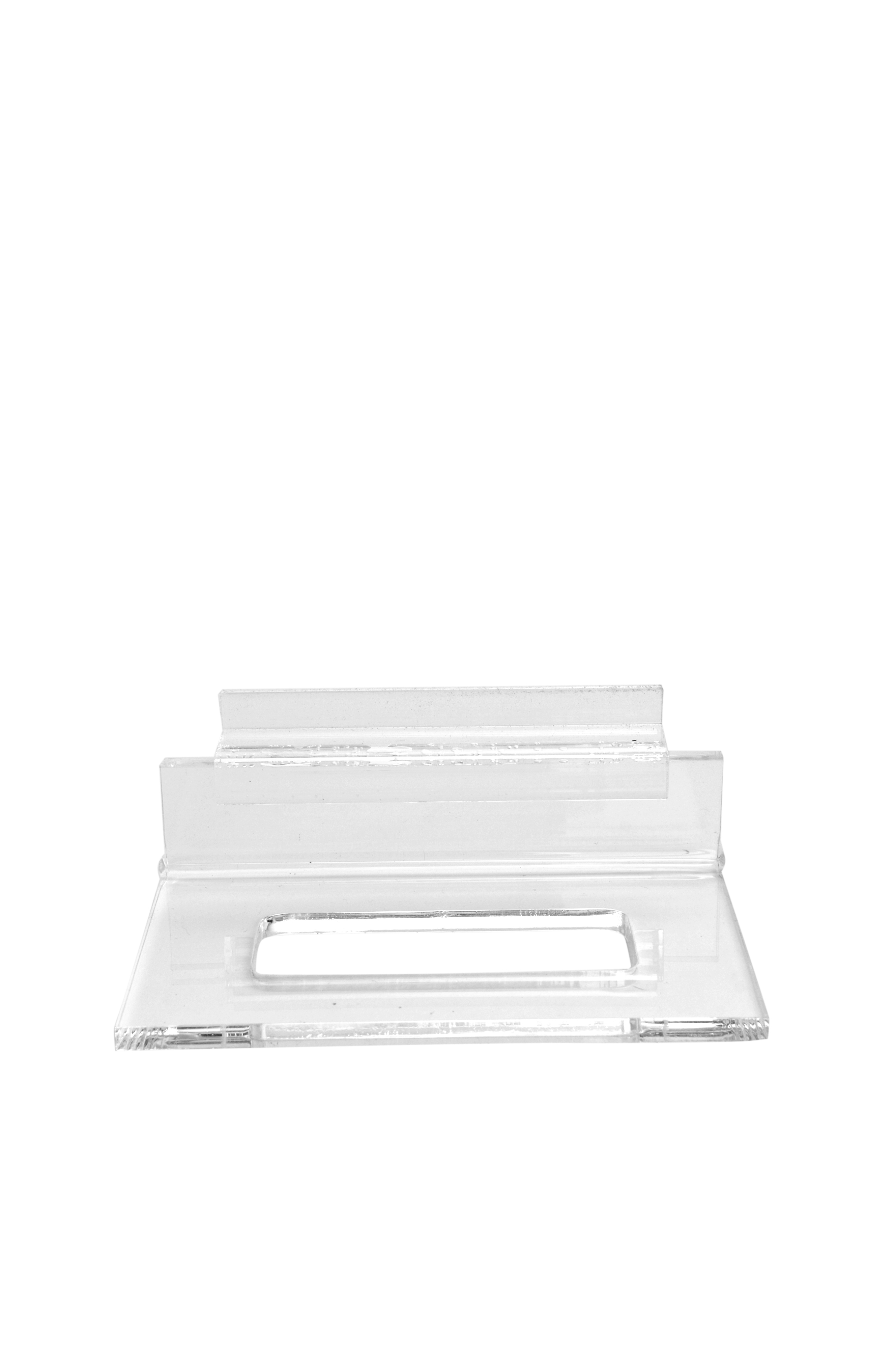 9a5683ee6c4c Clear Acrylic Single Plate Display Stand for Slatwall br  br (Item  764)