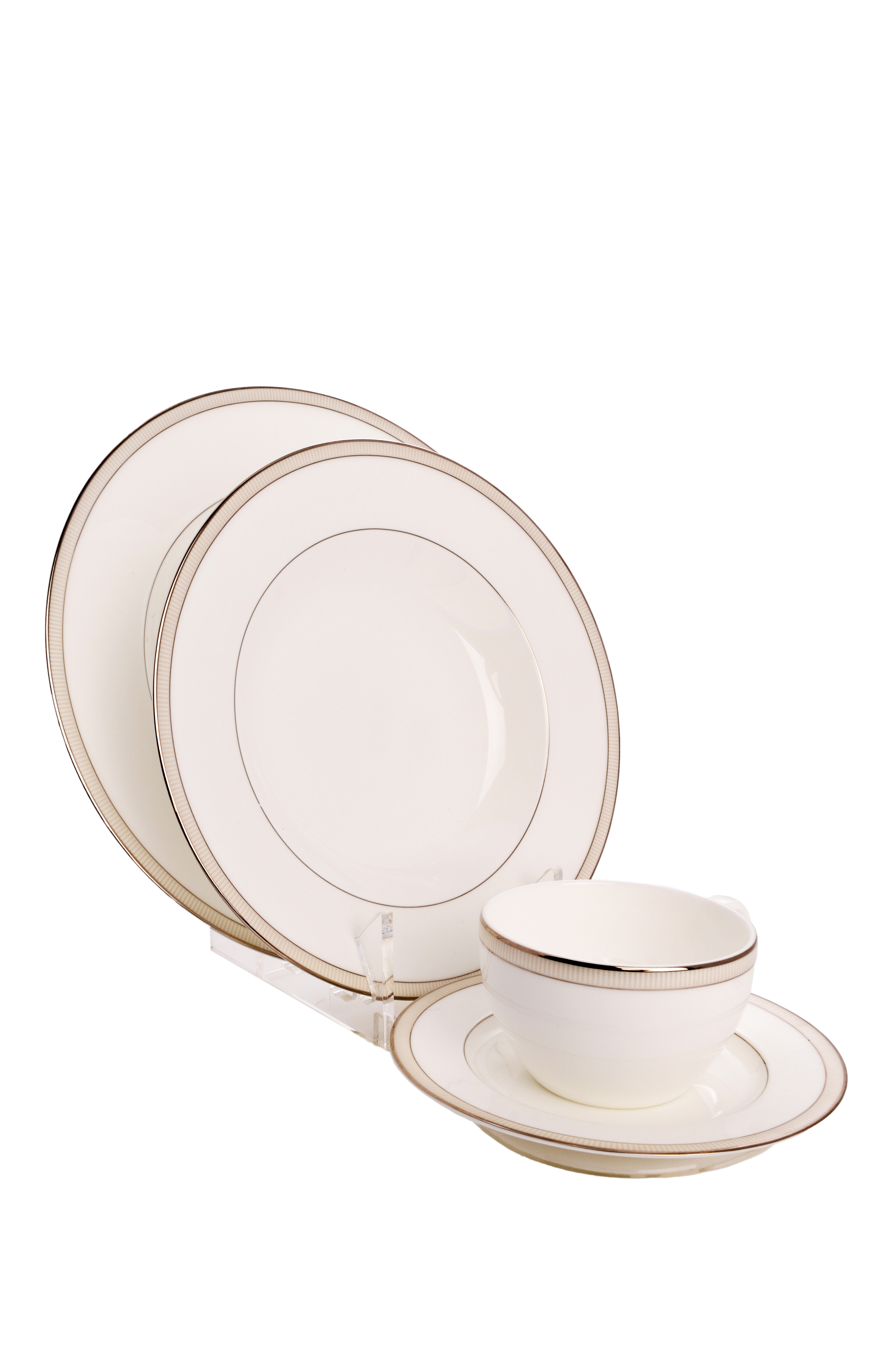 Clear Acrylic 4 Piece Dinnerware / China / Place Setting Display Stand (Item #770)  sc 1 st  THB Products LLC & Clear Acrylic 4 Piece Dinnerware / China / Place Setting Display ...