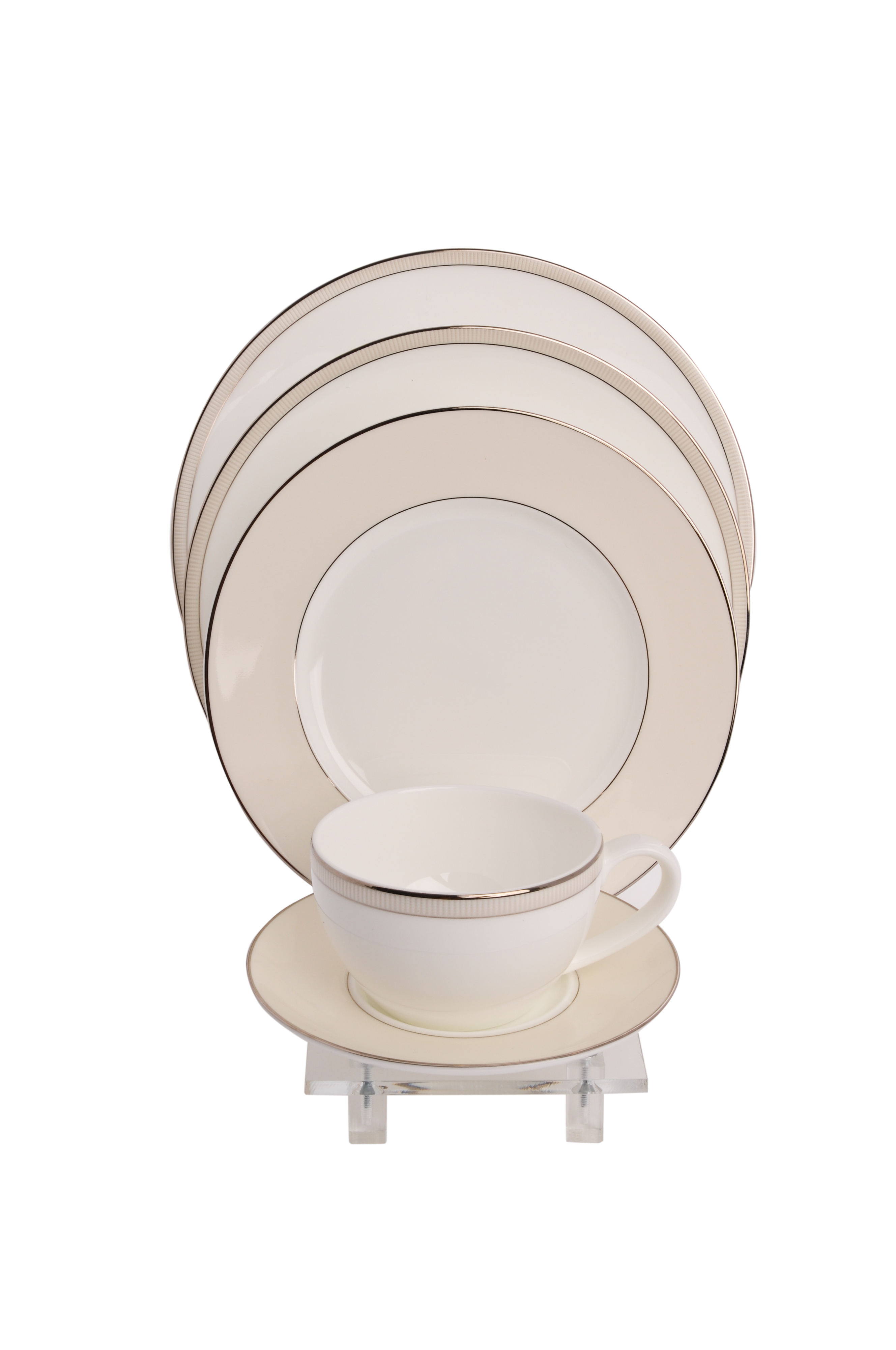 $28.50 each  sc 1 st  THB Products LLC & Modern 5 Piece Dinnerware Place Setting with a Bowl Display Standu003cbr ...