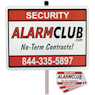 Security Signs and Stickers by AlarmClub Security!