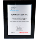 AlarmClub is a Honeywell Lyric Certified Security System Dealer!