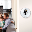 Honeywell Lyric Round WiFi-Enabled Smart Thermostat Wall-Mounted Installation