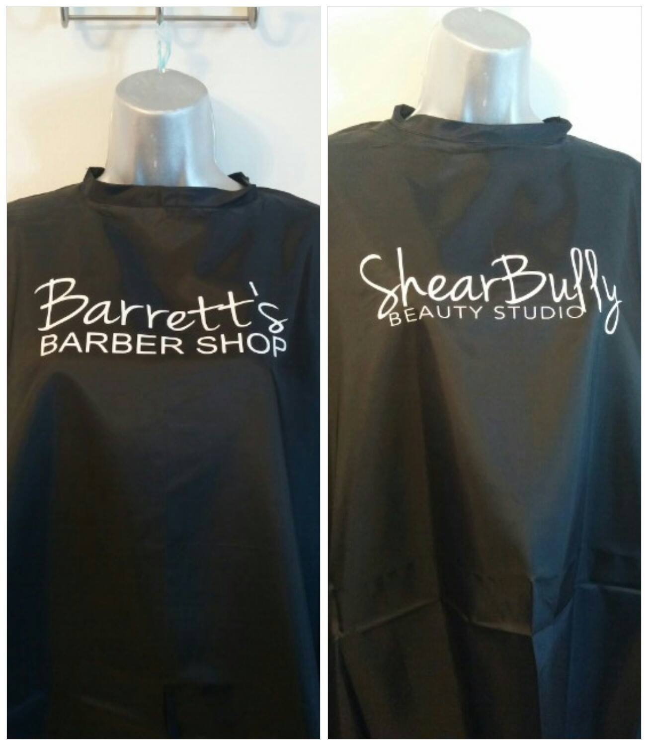 Cape Apron- Barber Stylist Logo Custom Hair Cutting Salon