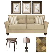 Designer Select Classic Gold Living Room Suite