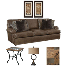 Designer Select Old World Comfort Living Room Suite