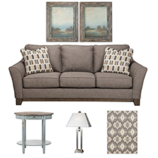Designer Select Rustic Gray Living Room Suite