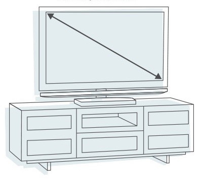 measure entertainment center