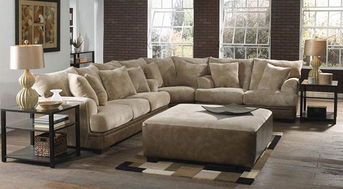 Delicieux Jackson Barkley Sectional In Toast