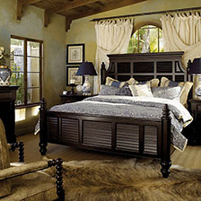 coastal furniture bedding 11146 | tommy bahama kingstown malabar panel bed 1