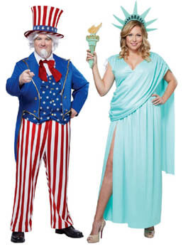 4th of july plus size couple costumes