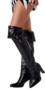 thigh high pirate boot tops