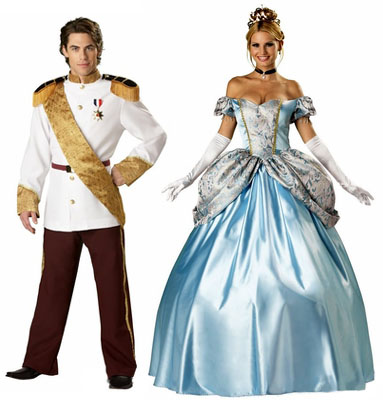 theatrical prince charming and cinderella costumes
