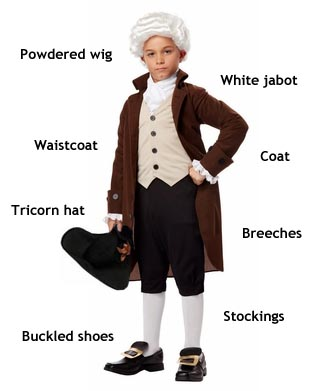 boys colonial costumes