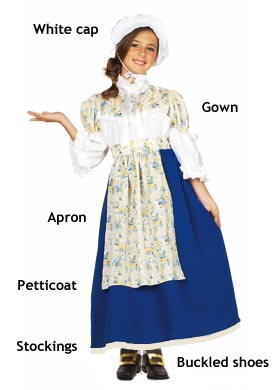 girls colonial costumes