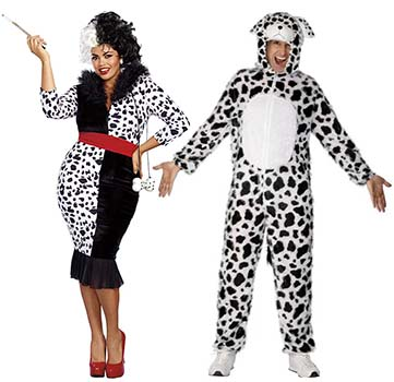 ... cruella and dalmation costumes  sc 1 st  Candy Apple Costumes & Couple u0026 Group Costumes - Best Costumes for Couples