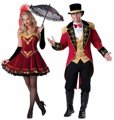 theatrical ringmaster and tightrope walker costumes