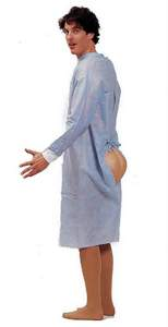 hind sight funny patient costume