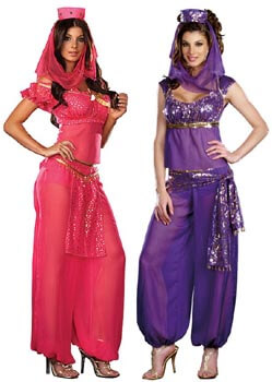 womens genie or jasmine costume - Modest Womens Halloween Costumes