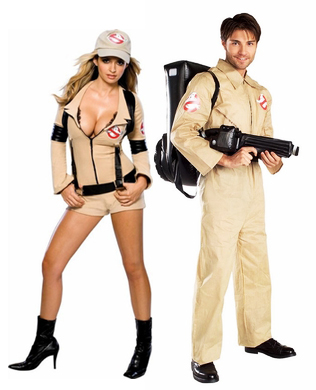 80s ghostbuster couple costumes