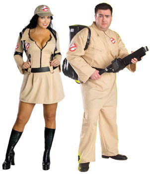 ghostbusters plus size couple costumes
