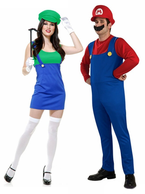 80s mario and luigi couple costumes  sc 1 st  Candy Apple Costumes & 80s Themed Costumes Halloween Costumes Couple Costumes