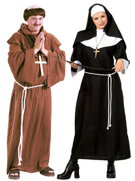 Medieval costumes adult renaissance halloween costume monk and nun couple costumes solutioingenieria Image collections